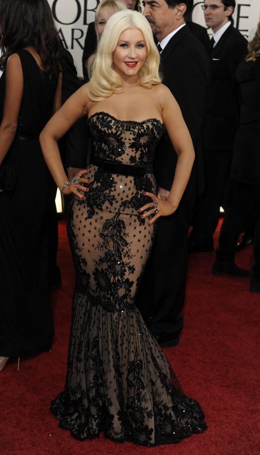 "Кристина Агилера на наградите ""Златен глобус"" 2011"