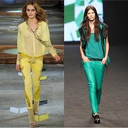 Панталони в ярки цветове за пролет/лято 2012