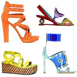 Цветни сандали лято 2012