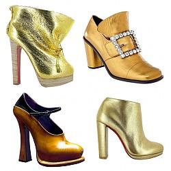 Златисти обувки есен 2012