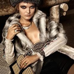 Кожа с  косъм - модна тенденция есен/зима 2013-14