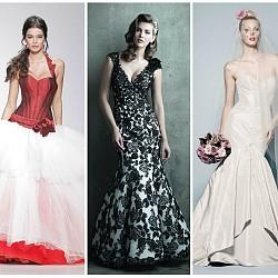 Цветни сватбени рокли 2014