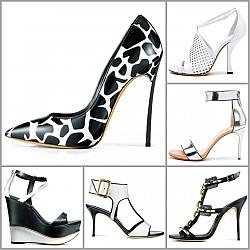Обувки Casadei - черно-бяла страст