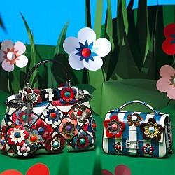 Цветни чанти от Fendi  за пролет-лято 2016