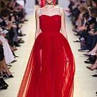 Рокля в червено от Christian Dior