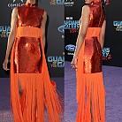 Зоуи Салдана в рокля на Emilio Pucci